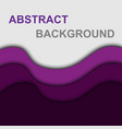 violet curve shape abstract background vector image vector image