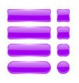 violet glass buttons menu interface elements set vector image vector image