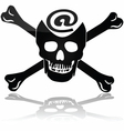 Web piracy vector image