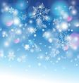 winter graphic background with different snow snow vector image vector image