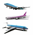 Set of Art Commercial Plane vector image