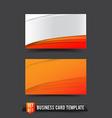 Business Card template set 017 Orange curve vector image