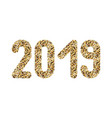 2019 figures from gold sparkles for christmas vector image vector image