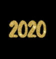 2020 new year numerals bright firework explosion vector image vector image