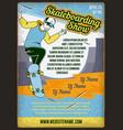 a man riding skateboard vector image vector image