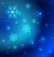 Abstract shiny snowflakes vector image
