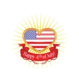american heart vector image vector image