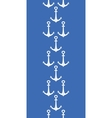 Anchors blue and white vertical border seamless vector image vector image
