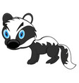 animal badger on white background is insulated vector image vector image
