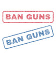 ban guns textile stamps vector image vector image