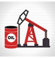 barrel and petroleum isolated icon design vector image vector image