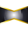Black technology background with golden colors