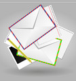 blank envelope paper document pencil isolated vector image