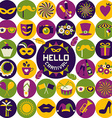 Bright carnival icons vector image