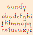 candy alphabet vector image vector image