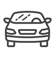 car line icon transport and automobile sedan vector image