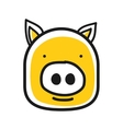 Cartoon animal head icon Pig face avatar vector image
