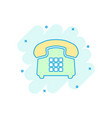 cartoon phone icon in comic style telephone sign vector image vector image