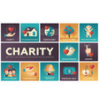 charity - set of flat design infographics elements vector image vector image