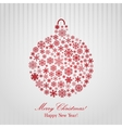 Christmas background with Christmas ball vector image vector image