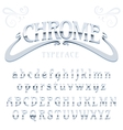 Chrome letters typeface made of steel modern vector image vector image