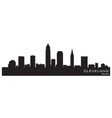 Cleveland Ohio skyline vector image vector image