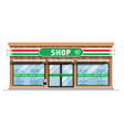 convenience store building vector image vector image