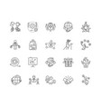 crm line icons signs set outline vector image vector image