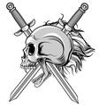cross swords and skull vector image