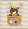 cute bear in the pocket vector image