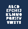 cute cutout alphabet abc poster vector image