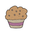 digitally drawn cup cake design hand drawing style vector image vector image