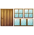 Door and windows vector image