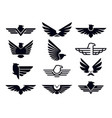 eagle symbol silhouette flying eagles emblem vector image vector image