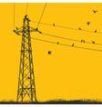 electricity pylon vector image vector image