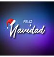 feliz navidad merry christmas card template vector image