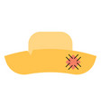 festive wide hat on a white background eps10 vector image