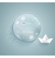 glass bubble and origami paper ship vector image