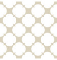 golden ornamental grid pattern simple abstract vector image vector image