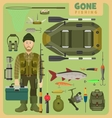 Gone fishing fisher vector image
