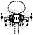 grunge lock emblem vector image vector image