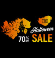 halloween sale halloween discount background vector image vector image
