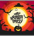 happy halloween party concept vector image vector image