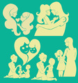 Happy Mother 1 vector image vector image