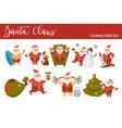 happy new year cartoon santa celebrating holidays vector image vector image