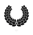heraldic wreath icon honor or quality or reward vector image vector image