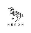 heron monoline outline logo icon vector image