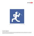javelin throw icon - blue photo frame vector image