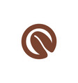 letter o and seed coffee beans logo designs vector image vector image