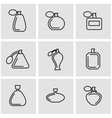 line perfume icon set vector image vector image